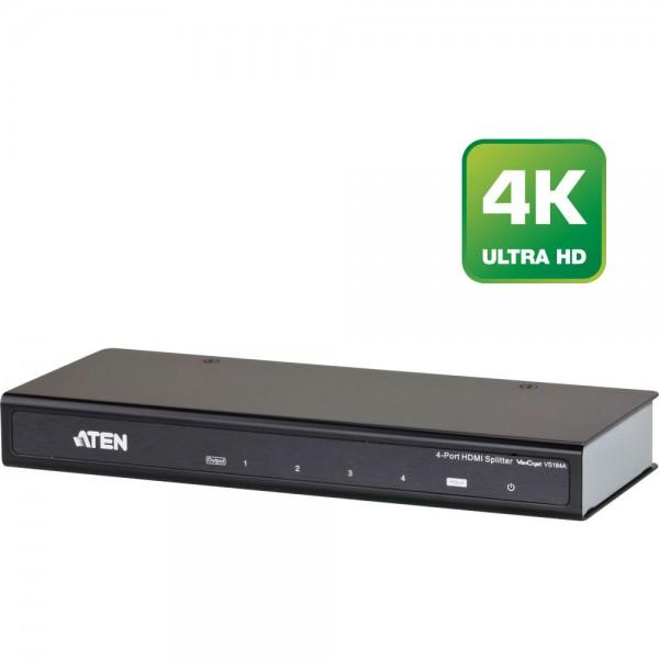 ATEN VS184A Video-Splitter HDMI 4-fach Verteiler, UHD, 4K2K