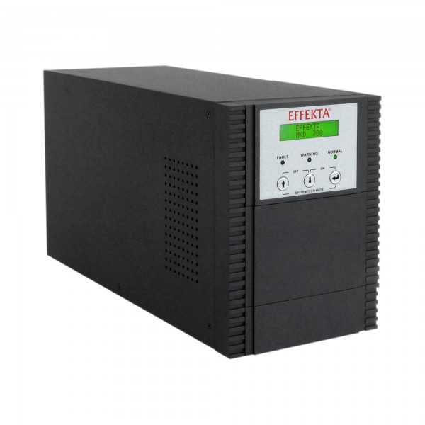 EFFEKTA USV MKD XL 700 VA, Online-Dauerwandler, 75 min., Tower, schwarz