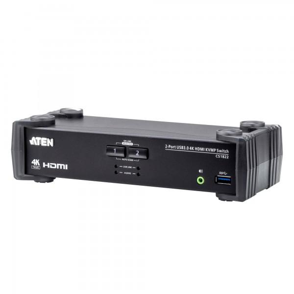 ATEN CS1822 KVMP-Switch 2-fach, 4K HDMI, USB 3.0, Audio