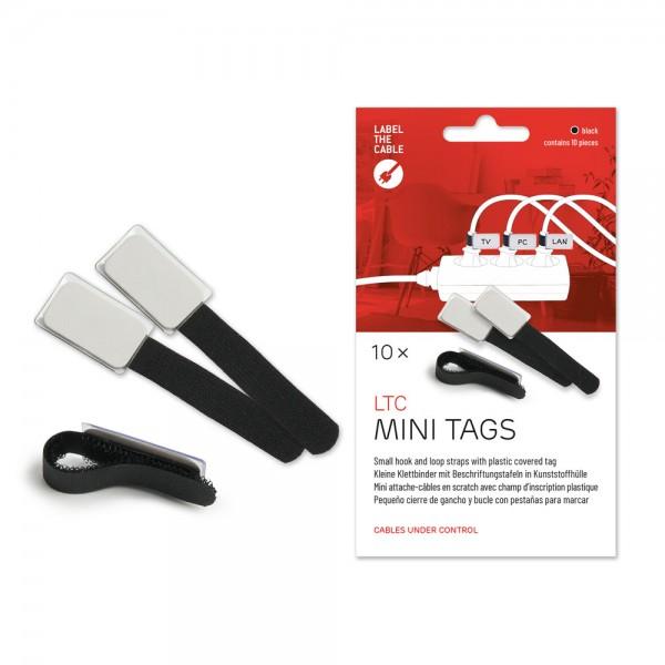 Label-The-Cable Mini, LTC 2510, 10er Set schwarz