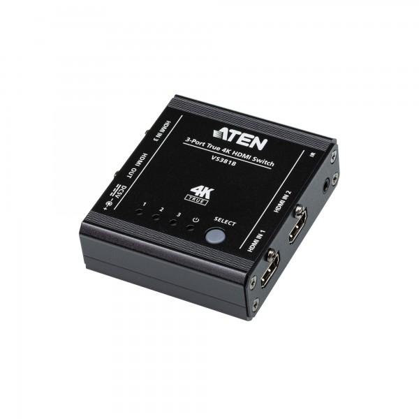 ATEN VS381B Video-Switch, 3-Port True 4K HDMI Switch