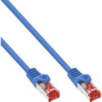 InLine® Patchkabel, S/FTP (PiMf), Cat.6, 250MHz, PVC, Kupfer, blau, 0,3m