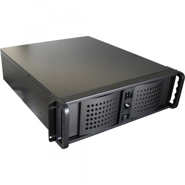 """FANTEC TCG-3810X07-1, 3 3HE 19""""-Servergehäuse ohne Netzteil, 528mm tief, schwarz"""