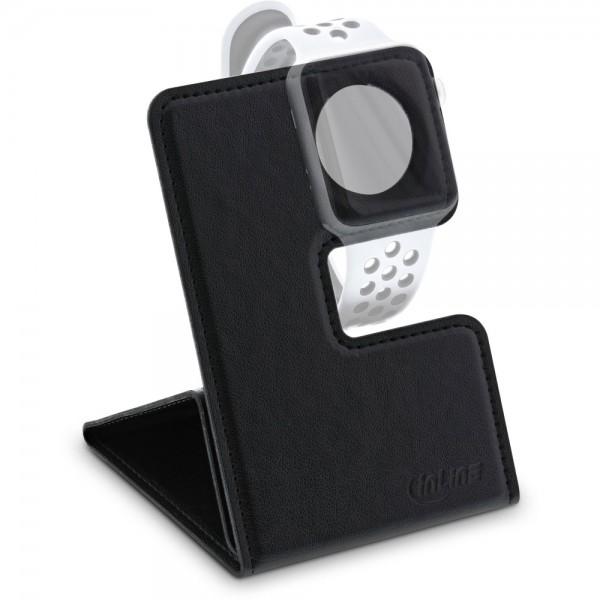 InLine® Reise-Ständer für Apple Watch für Nachttisch, Schreibtisch, Regal, schwarz, faltbar