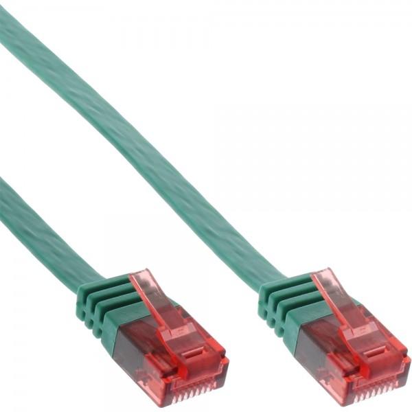 InLine® Patchkabel flach, U/UTP, Cat.6, grün, 0,5m