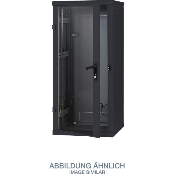 "Triton RMA-27-A88-BAX-A1 19"" Netzwerkschrank 27HE, 800x800mm, Glastür, schwarz"