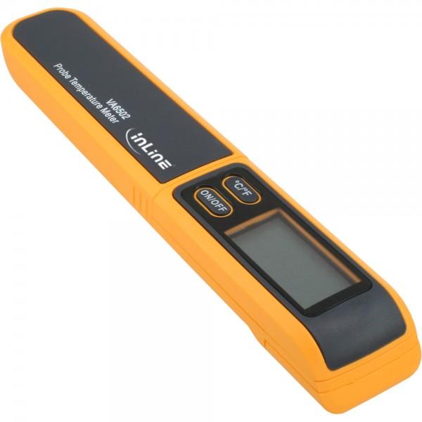 InLine® Thermometer, Temperaturfühler -50°C bis 270°C, Digitalanzeige