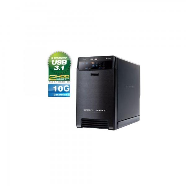 "FANTEC QB-X2U31R, 2x 3.5"" HDD RAID Gehäuse mit USB 3.1"