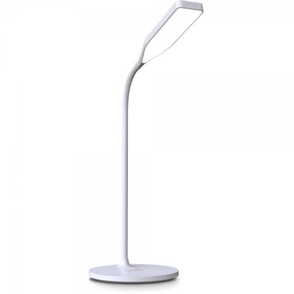 InLine® SmartHome LED Tischleuchte mit Qi-Ladefläche und USB Ausgang, weiß