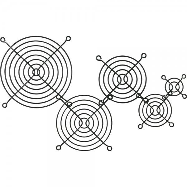 InLine® Lüftergitter Metall, schwarz, 140x140mm