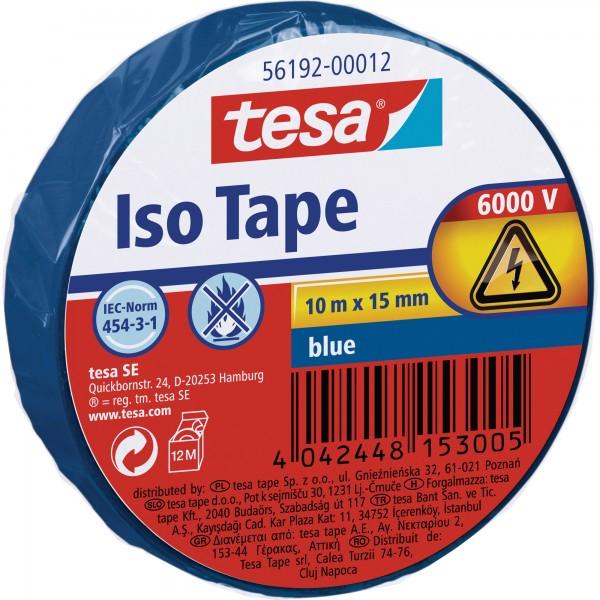 tesa Isolierklebeband, 10m x 15mm, blau