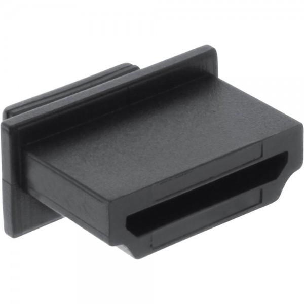 10er Pack InLine® Staubschutz, für HDMI Buchse, schwarz