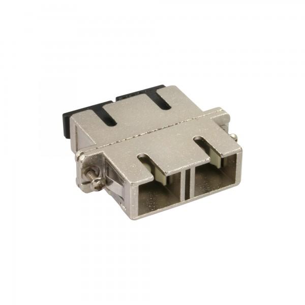 InLine® LWL Metall-Kupplung, Duplex SC/SC, multimode, Keramik-Hülse, zum Einbau