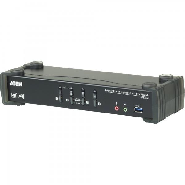 ATEN CS1924M KVMP-Switch 4-fach, DisplayPort mit MST, USB 3.0, 4K