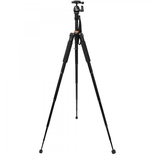 InLine® PREMIUM Stativ für Digital- und Videokameras, Aluminium, Höhe max. 1,55m