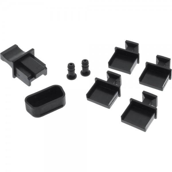 InLine® Staubschutz-Set, für Notebook-Schnittstellen, 8-teilig