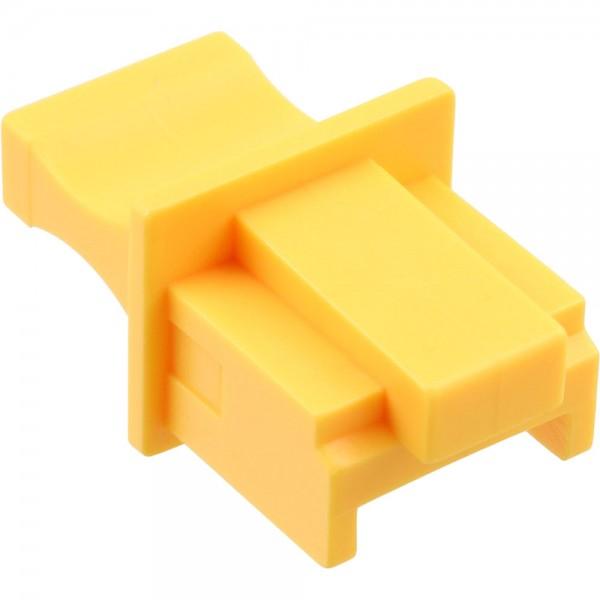 InLine® Staubschutz, für RJ45 Buchse, Farbe: gelb, 100er Pack