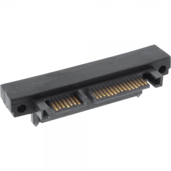 InLine® SATA Adapter Stecker / Buchse, 22pol. (15+7), aufwärts gewinkel