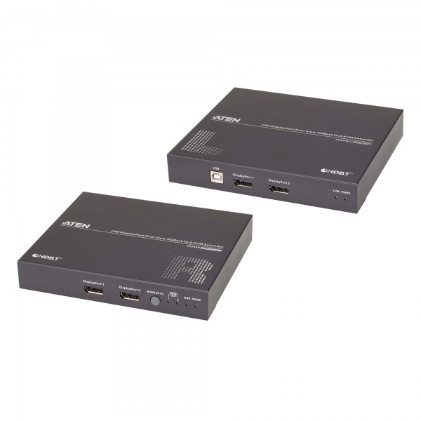 ATEN CE924 KVM Konsolen-Extender, USB Dual-Anzeige DisplayPort HDBaseT 2.0 (4K bei 100m)