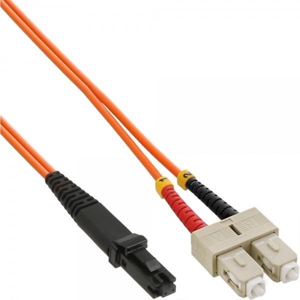 InLine® LWL Duplex Kabel, MTRJ/SC, 50/125µm, OM2, 2m