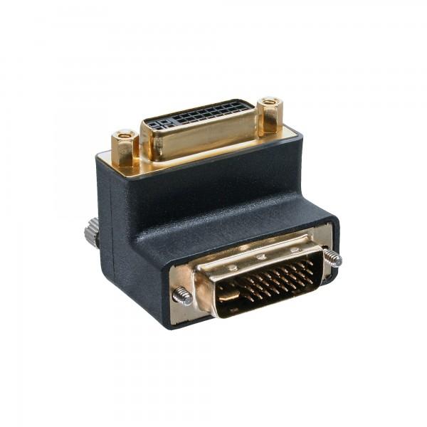 InLine® DVI-I Adapter, 90° gewinkelt, digital+analog 24+5 Stecker / Buchse