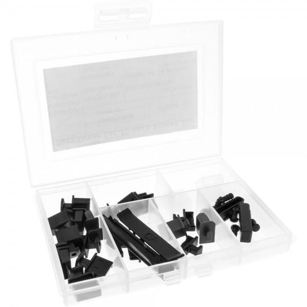 InLine® Staubschutz-Set, für Frontpanel und Cardreader, 30-teilig