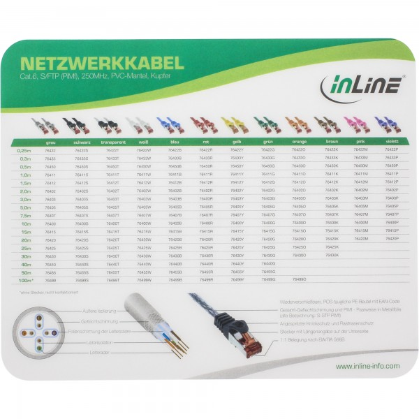 InLine® Maus-Pad Laser, ultradünn, 220x180x0,4mm
