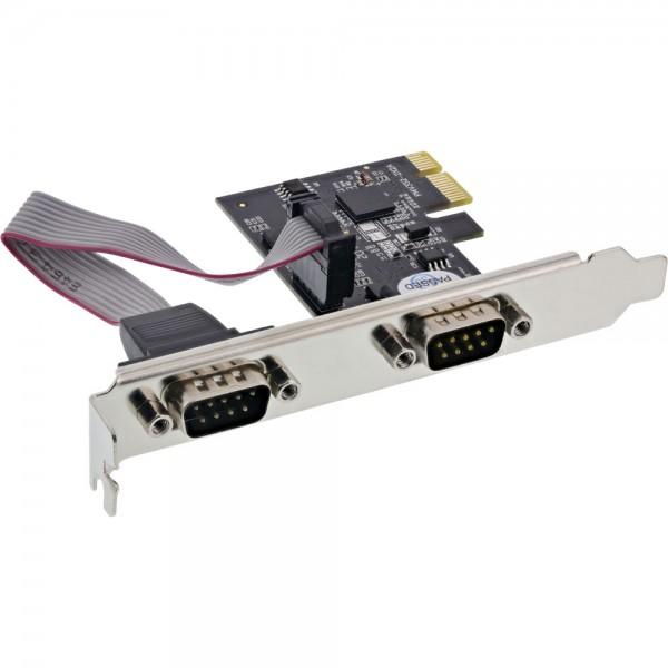 Longshine Schnittstellenkarte, 2 Port seriell, PCI Express I/O Card, LCS-6321M