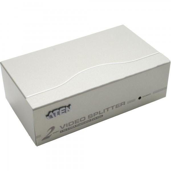 ATEN VS92A Video-Splitter S-VGA 2-fach Monitor-Verteiler, 350Mhz