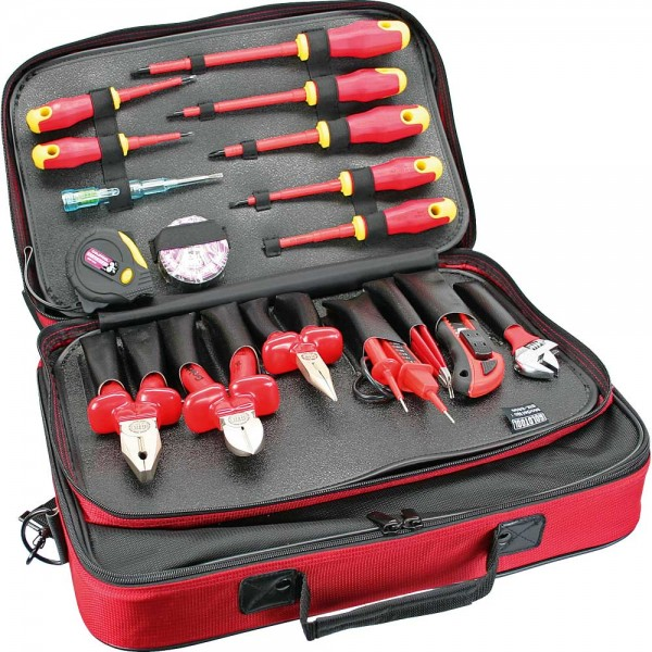 InLine® Profi Elektro Werkzeugtasche, 18-teilig