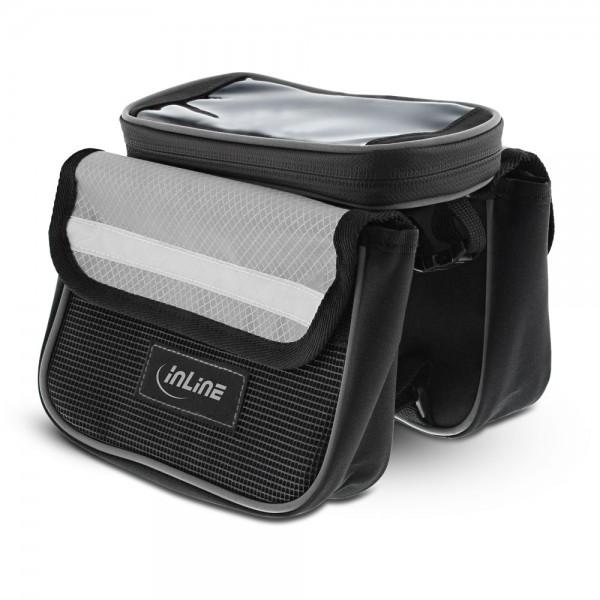 InLine® Sport Fahrradtasche Multi zur Montage auf den Rahmen, schwarz