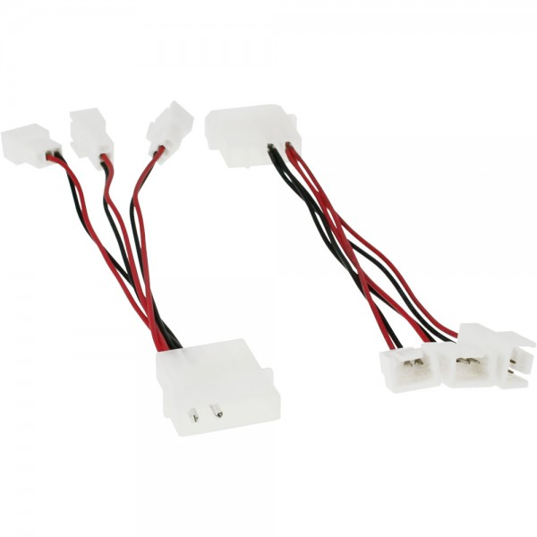 InLine® Lüfter Adapterkabel, 12V zu 5V, für 3 Lüfter