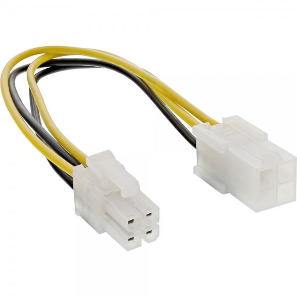 InLine® Strom Verlängerung intern, P4 4pol Stecker / Buchse, Netzteil zu Mainboard, 0,2m