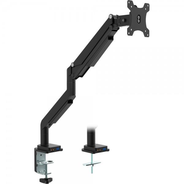 """InLine® Tischhalterung mit Lifter und USB/Audio, beweglich, für Monitore bis 82cm (32""""), max. 9kg"""
