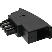 InLine® TAE-F Adapter, TAE-F Stecker auf RJ11 Buchse, für Siemens, Telekom und Hagenuk usw.