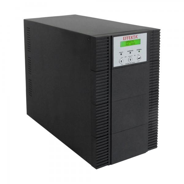 EFFEKTA USV MKD XL 3000 VA, Online-Dauerwandler, 23 min., Tower, schwarz