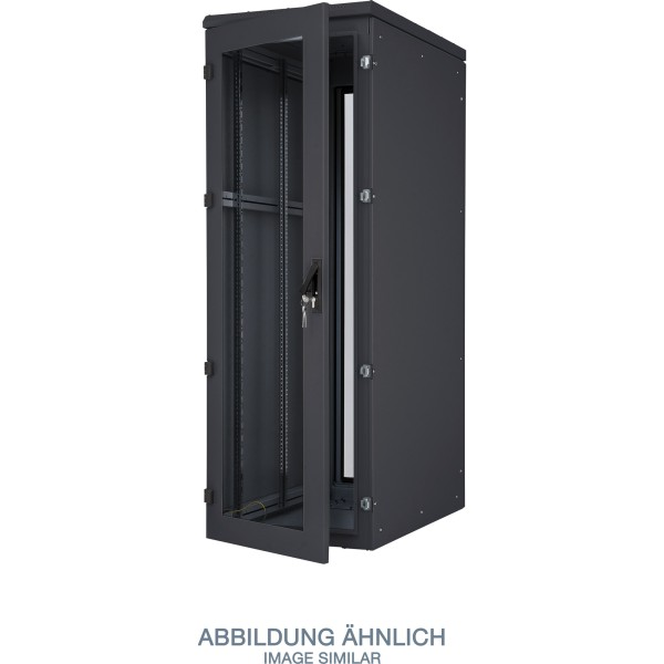 "Triton RIE-32-A81-BCX-A1 19"" Netzwerkschrank 32HE, 800x1000mm, IP54, Glastür, schwarz"