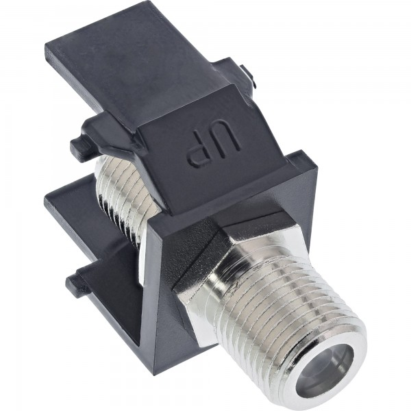 Keystone Einbauadapter F-Verbinder, schwarz