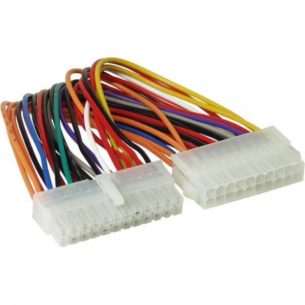 InLine® Stromadapter intern, 20pol ATX Netzteil zu 24pol EPS12V Mainboard, 0,16m