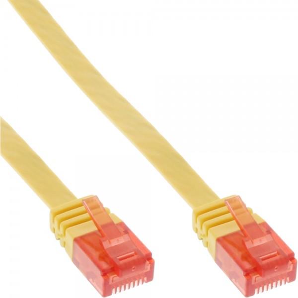 InLine® Patchkabel flach, U/UTP, Cat.6, gelb, 10m