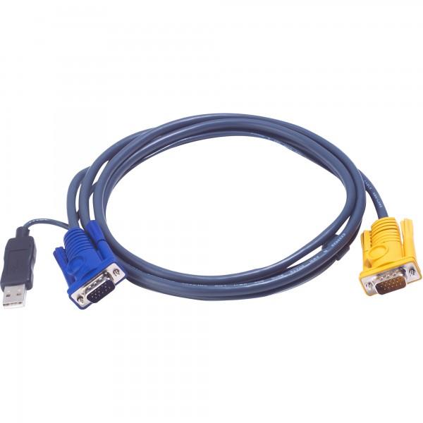 ATEN 2L-5202UP KVM Kabelsatz, VGA, PS/2 zu USB, Länge 1,8m