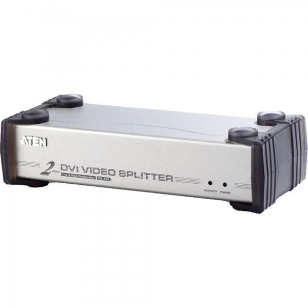 ATEN VS162 Video-Splitter DVI 2-fach Monitor-Verteiler mit Audio