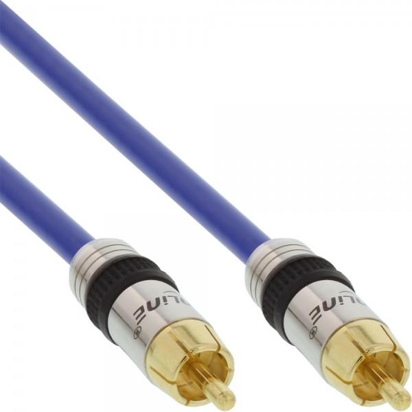 InLine® Cinch Kabel AUDIO, PREMIUM, vergoldete Stecker, 1x Cinch Stecker / Stecker, 1m