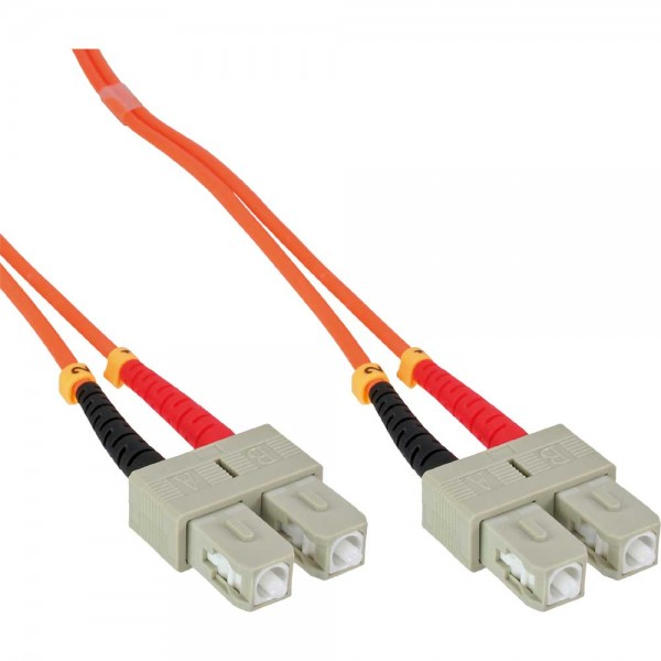 InLine® LWL Duplex Kabel, SC/SC, 50/125µm, OM2, 5m