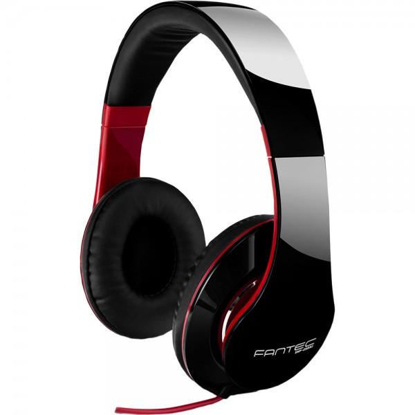 FANTEC SHP-250AJ-BK, Kopfhörer, stereo, 3,5mm Klinke, schwarz/rot