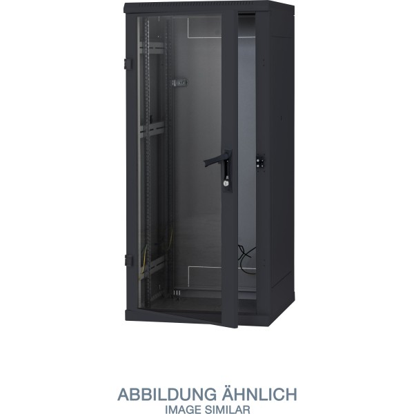 """Triton RTA-32-A82-BAX-A1 19"""" Netzwerkschrank 32HE, 800x1200mm, Glastür, schwarz"""