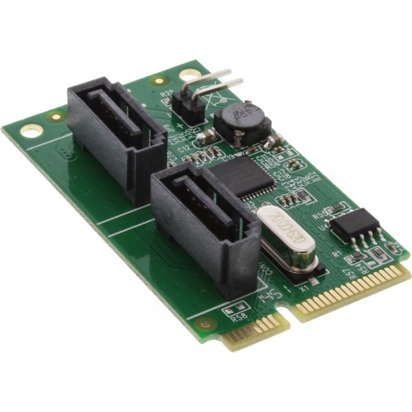 InLine® Mini-PCIe 2.0 Karte, 2x SATA 6Gb/s, RAID 0,1,SPAN