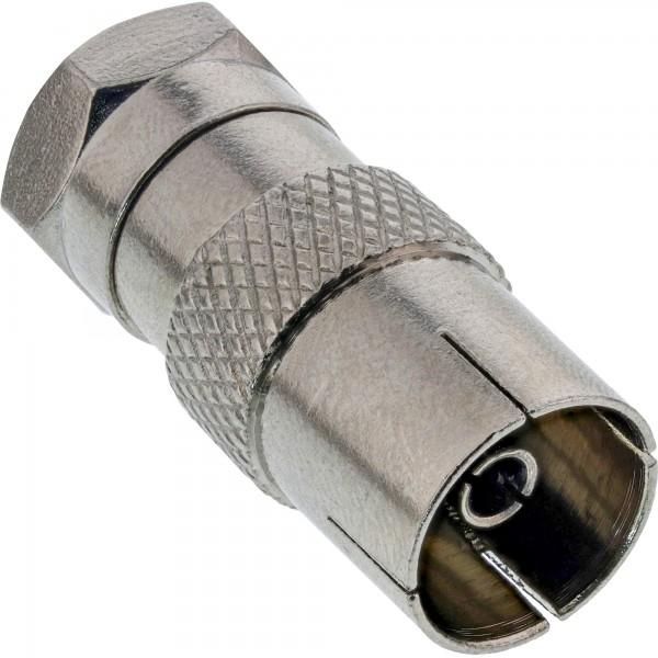 InLine® Adapter F-Stecker (SAT) auf IEC-Buchse (Antenne)