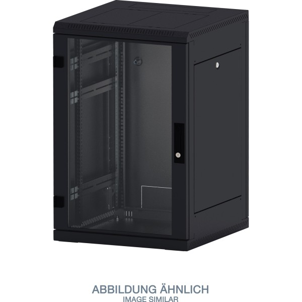 "Triton RMA-15-A66-BAX-A1 19"" Netzwerkschrank 15HE, 600x600mm, Glastür, schwarz"