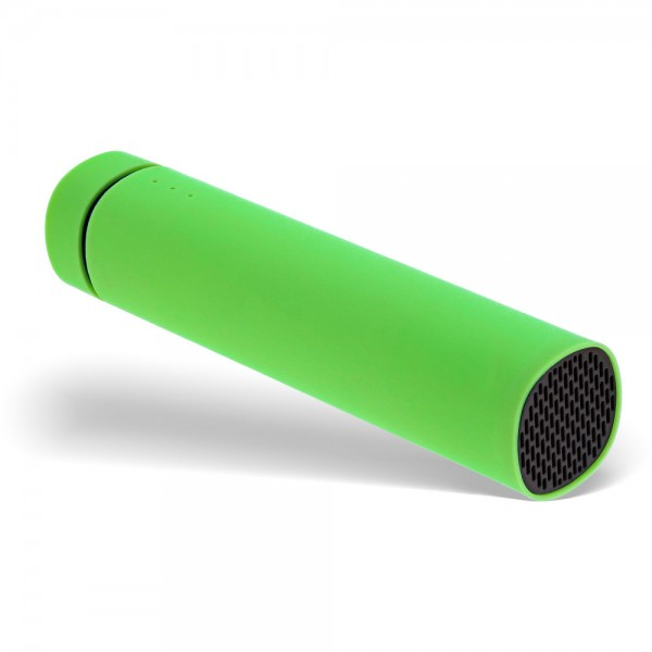 OEM USB Soundbank Powerbank 2.200mAh, mit Lautsprecher und LED Statusanzeige, grün